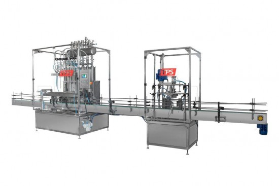 Semiautomat filling and capping of volume dosing of the Compact series